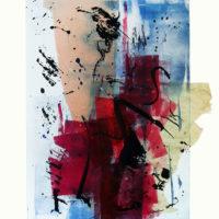 Al amanecer - Monotype, chine collé, 40x30cm