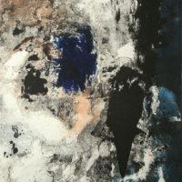 Vestiges du jour - Monotype, chine collé, 60x40cm