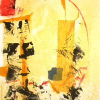 Tornasolado - Monotype, chine collé, 60x40cm