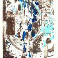 Arenys I - Mokulito, pointe sèche, chine collé, 70x50cm