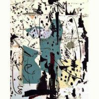 Arenys II - Mokulito, pointe sèche, chine collé, 70x50cm