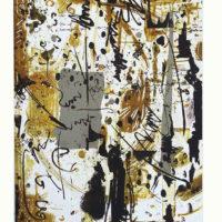 Arenys IV - Mokulito, pointe sèche, chine collé, 70x50cm