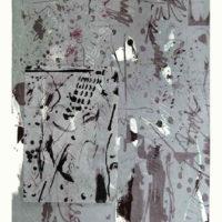 Arenys V -Mokulito, pointe sèche, chine collé, 70x50cm