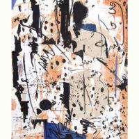 Arenys VII - Mokulito, pointe sèche, chine collé, 70x50cm