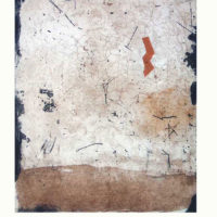 Palimpsestol - Etching, aquatint, dry point, stencil, 60x40cm