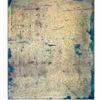Palimpsesto III -Etching, aquatint, dry point, gold leaf, 60x40cm