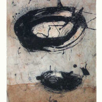 Palimpsesto lV - Etching, aquatint, sugar lift, dry point, 60x40cm