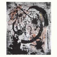 Graphismes#2 - Mokulito, pointe sèche, chine collé, 57x38cm