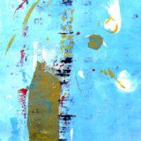 Amanecer - Monotype, chine collé, pastel, 60x40cm
