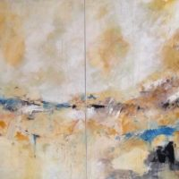 Elysium - Acrylique sur toile, 90x150cm