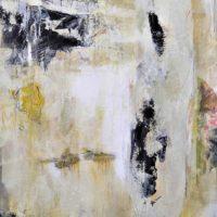Hommage à Joyce - Acrylique sur toile, collage,75x60cm
