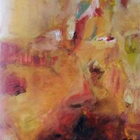 Mouvement flamenco - Acrylique et huile sur toile, collage, 90x60cm