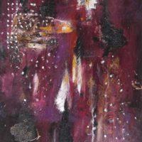 Brasier - Acrylique sur toile, collage, 60x50cm