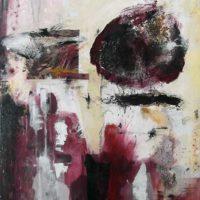 Monolithe - Acrylique sur toile, collage, 60x50cm