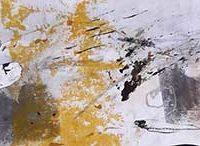 Esquisses de mémoire - Livre d'artiste, monotype, Kozo, feuille d'or, 15x 100cm